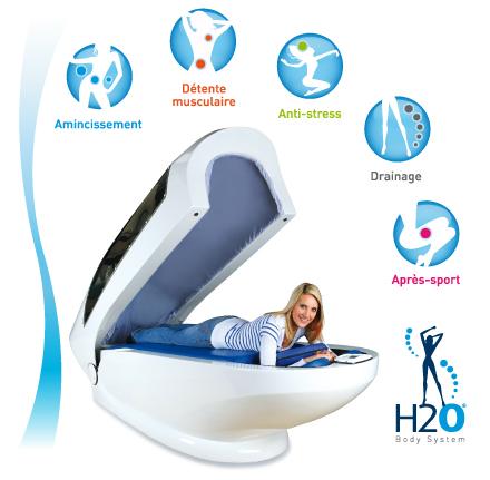 h2o body system pour un massage complet du corps. Black Bedroom Furniture Sets. Home Design Ideas