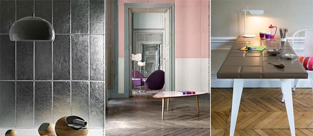 cuir au carr du cuir comme d co. Black Bedroom Furniture Sets. Home Design Ideas